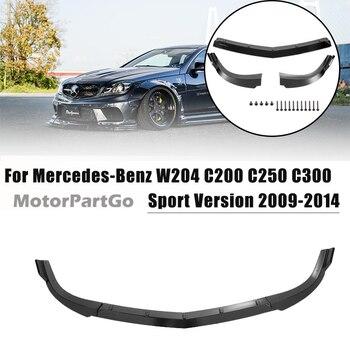 Car Front Bumper Lip Diffuser Spoiler Splitter Guard for Mercedes-Benz W204 C200 C250 C300 Sport 2009-2014 Bumper Protector M081 1