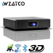 WZATCO S5 HD 4K אמיתי 3D DLP מקרן סוללה עם זום, אוטומטי Keystone, אנדרואיד 6.0 WiFi LED חכם Proyector Bluetooth Airplay