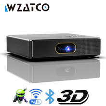 WZATCO S5 HD 4K Echt 3D DLP Projektor Batterie mit Zoom, Auto Keystone, android 6,0 WiFi LED Smart Proyector Bluetooth Airplay