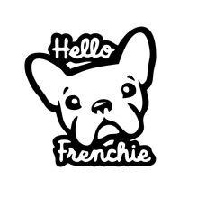 Забавный Милый Французский бульдог say hello автомобильный стикер
