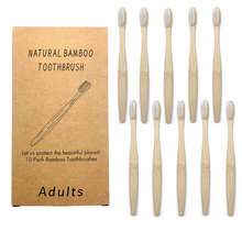 10Pcs Individual PackageToothbrush Eco-Friendly Bamboo Soft Fibre Toothbrush Biodegradable Teeth Brush Bamboo Handle Toothbrush