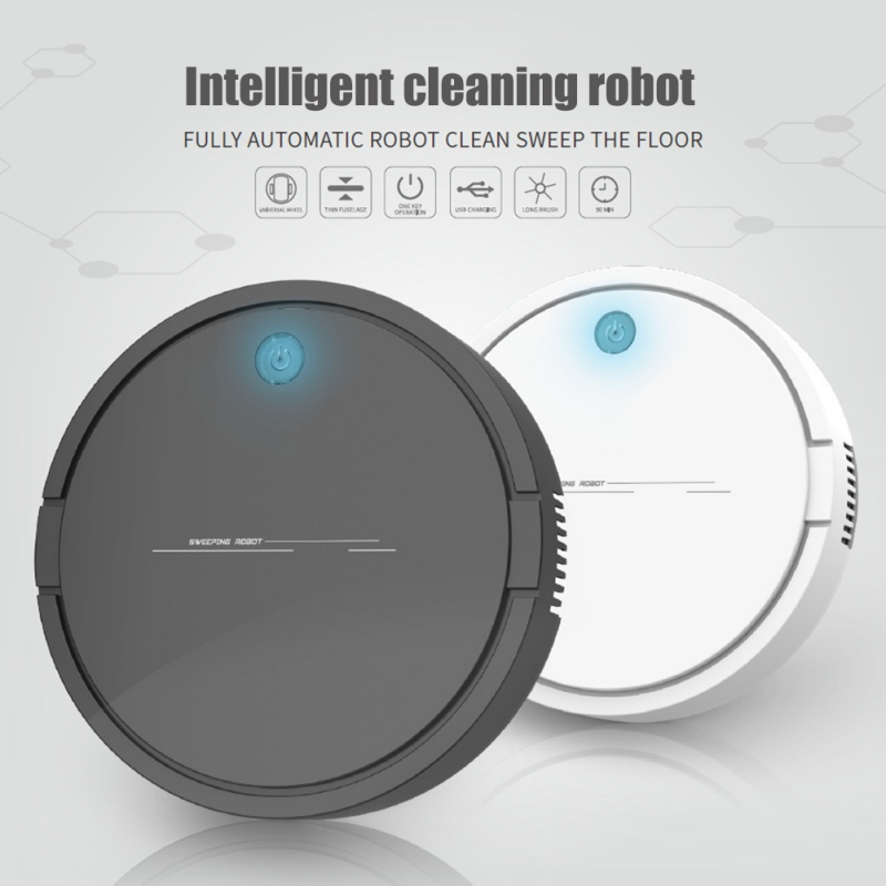Automatic Robot Wireless Vacuum Cleaner Sweeping USB Charging Intelligent Lazy Vaccum Cleaner Robots|Cleaning Brushes| |  - title=