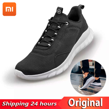 Original Xiaomi FREETIE 39-44 Plus Size Men's Sports Shoes Light Breathable Knitting City Running Sneaker for Outdoor Sports original xiaomi mijia freetie ultra light running shoes men s city sneaker air mesh breathable eva sole stylish casual shoes