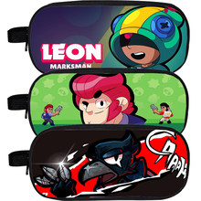 Anime Perkelahian Leon Crow Spike Shelly Colt Jessie Brock Pena Pensil Case Tas Tas Kosmetik Action Figure Toy Hadiah untuk anak Anak(China)
