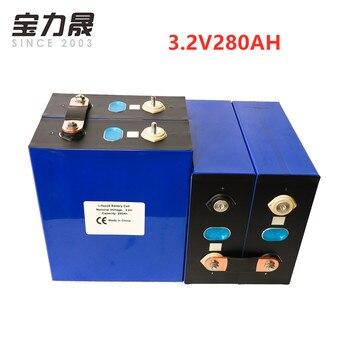 lifepo4 Rechargeable Battery 4PCS 3.2V280Ah Lithium Iron Phosphate Cell solar12V280AH 12V300Ah cells not 200Ah EU US TAX FREE
