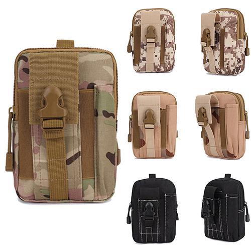 Men Durable Tactical Holster Military Molle Hip Waist Bum Bag Outdoor Sports Running Pack Purse Phone Case Organiser With Zipper