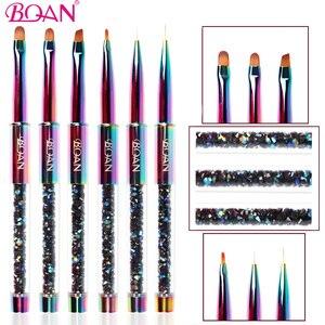 BQAN 1 шт. цветной УФ гель для ногтей кисть линия цветы кисти для рисования, кристаллый акриловый рисунок лайнер карандаш для маникюра, инструм...