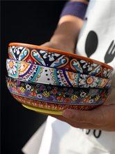 Europeu cerâmica utensílios de mesa do agregado familiar tigela sopa tigela de macarrão cobrir tigela de arroz tigela salada placa jantar criativo mj61102