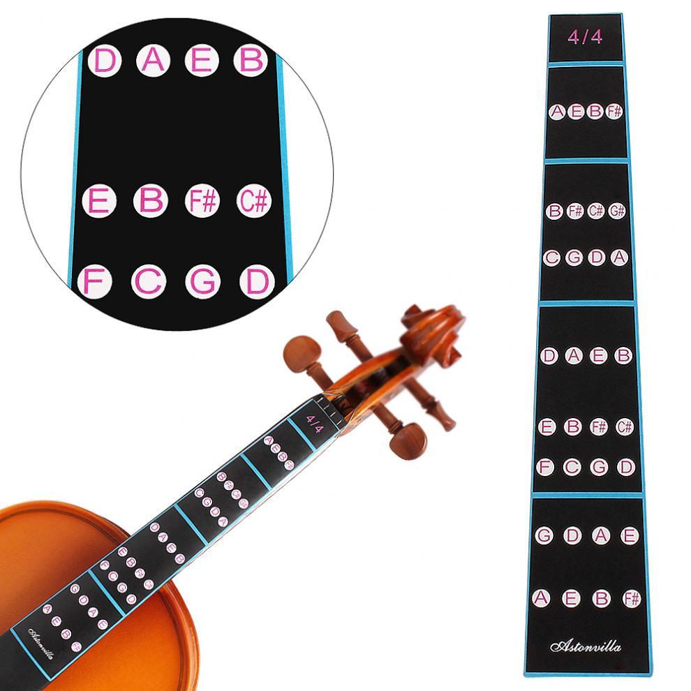 4/4 1/4 Violin Fingerboard Sticker Fretboard Note Label Fingering Chart Practice Guide Beginner Violin Parts Accessories