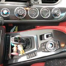 Samochód stylizacji 3D 5D z włókna węglowego wnętrza samochodu konsola zmienia kolor odlewnictwo naklejki naklejki dla BMW Z4 E89 2009-2016