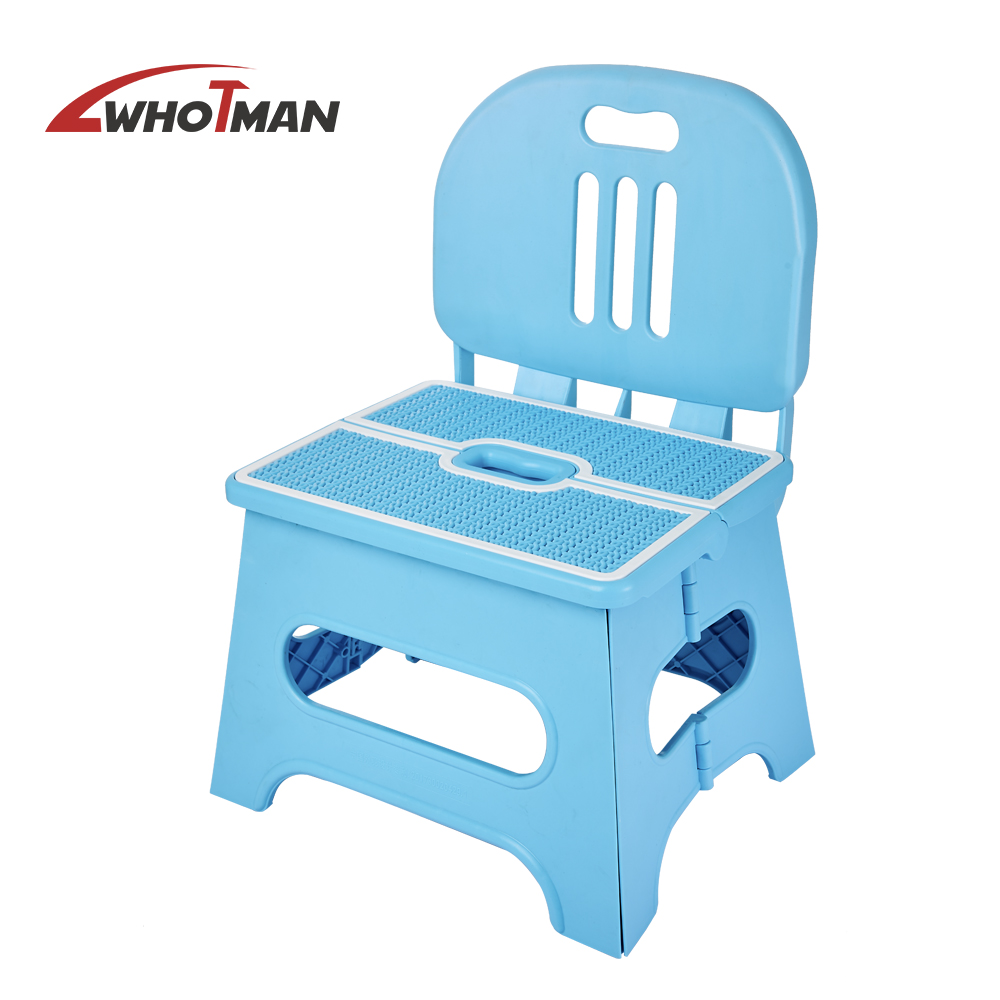 Folding Step Stool Plastic Multi Purpose Folding Stools Premium Heavy Duty Foldable Seat For Kids Adult Garden Bathroom