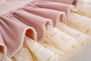 Image 5 - Pettigirl New Pink Lace Girls Dress With Headband Princess Dress Boutique Girls Party Dress Autumn Children Clothing