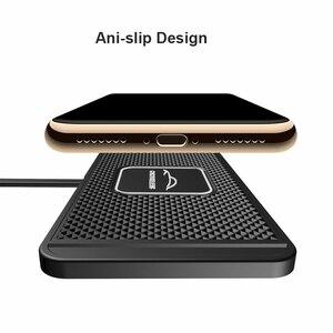 Image 4 - C1 QI bezprzewodowa ładowarka samochodowa Pad dla iPhone 11 Pro Max szybka szybka ładowarka bezprzewodowa samochód 10W 7.5W szuflada
