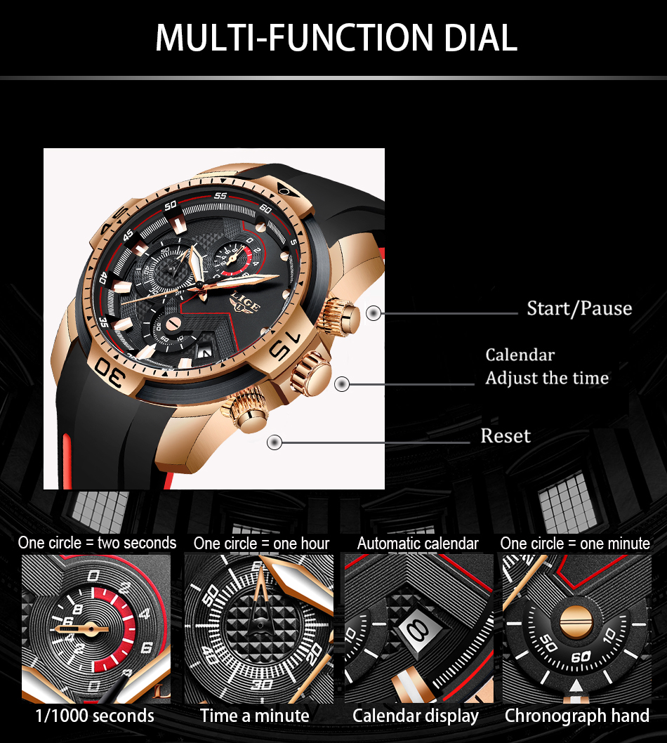He64591df58be44158650d54451470ec7J 2020 LIGE Sport Watch Men Brand Luxury Chronograph Silicone Strap Quartz Mens Watches Waterproof Clock Relogio Masculino+Box