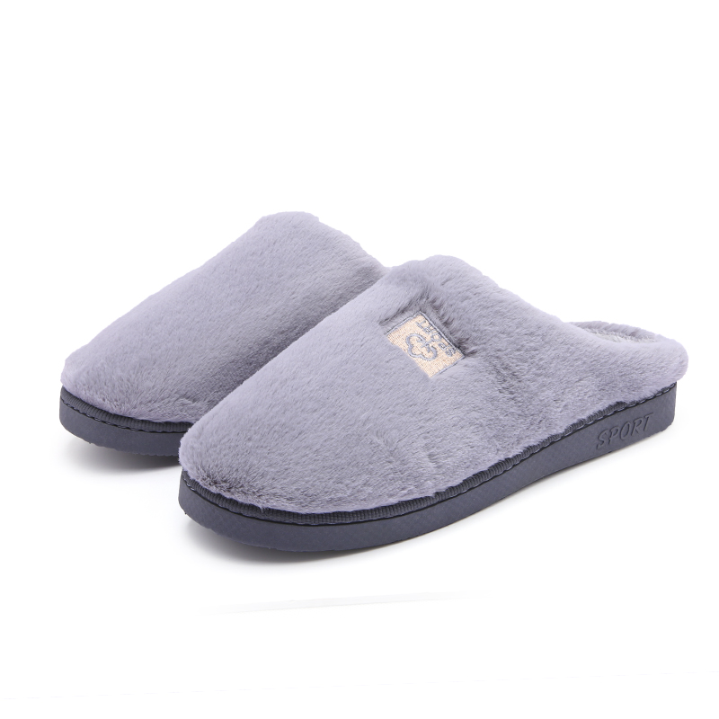 Image 3 - Cotton Slippers New Women Men Winter Slippers Shoes Soft Plush Cotton Non Slip Floor Indoor Furry Shoes Slipper For House Home-in Slippers from Shoes