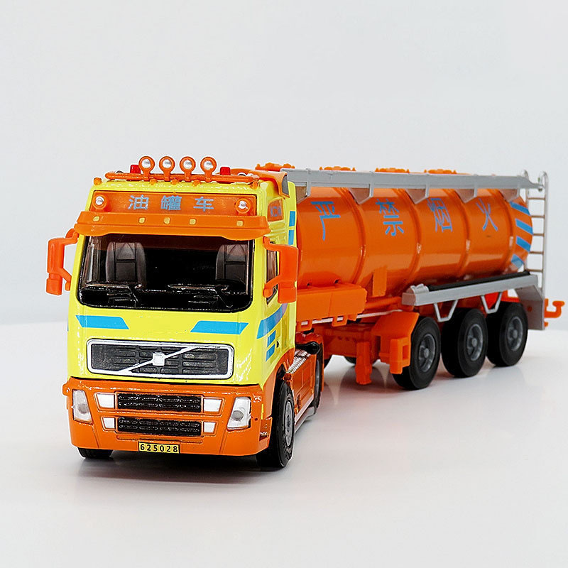 1/50 Scale Simulation Tank Truck Alloy Engineering Transport Truck Diecast Tank Tanker Refueling Truck Model Toy Car Collection