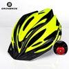 Bicicleta de montanha capacete com luz led vermelho e viseira de sol das mulheres dos homens leve estrada ciclismo capacete da bicicleta esportes equipamentos 13