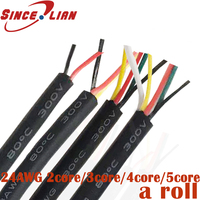 Electr Cabl Cable Wire 24 AWG 2 3 4 5 core Wire multi core Mouse Wire Signal Control Cable USB Data Cable 200M/300 DHL