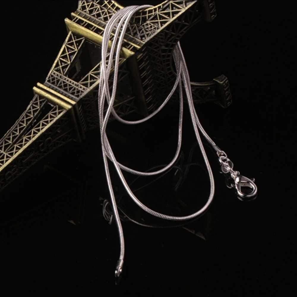 2018 Fashion Charmant Luxe Unsex Snake Collier Verzilverd Sieraden DIY 16 18 20 22 24 26 28 30 inch