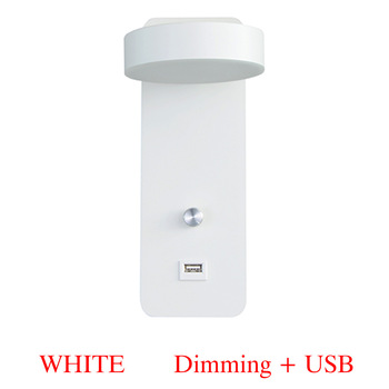 Indoor Led wall lamps 9W dimming wall lamp with USB charge bedroom living room Nordic modern wall lighting lamp aisle sconces 8