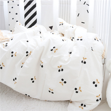 Pillowcase Quilt-Cover Bedding-Set Newborn 120x60 Bed-Sheet Crib Cotton 3pcs for 130x70cm-Bed