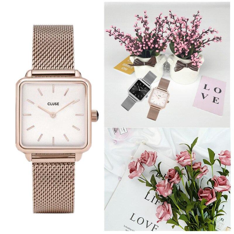 Luxury Designer Brand Women Casual Dress Quartz Watch Ladies Bracelet Watches Fashion Stainless Steel Uhr Clock 2019 (logo)