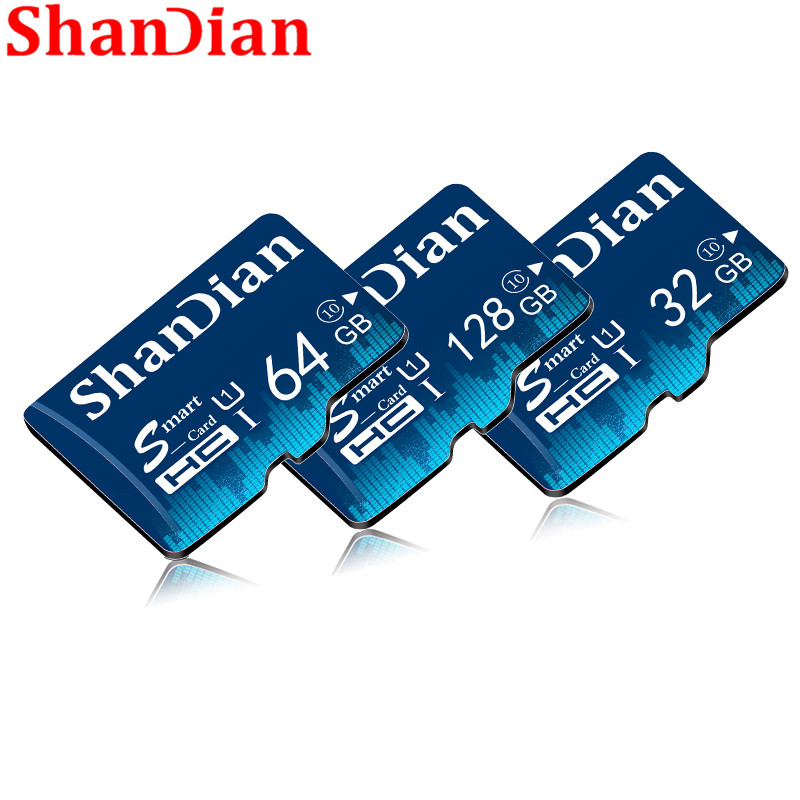 SHANDIAN TF Card 16GB 32GB 64GB Class 10 Memory Card 4GB 8GB Class 6 Smart SD Card TF Card Real Capacity For Phones/Camera image