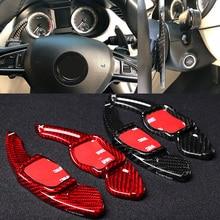 T Carbon Lenkrad DSG Paddle Schalthebel für Skoda Superb Paddel Getriebe Auto Zubehör Abdeckungen