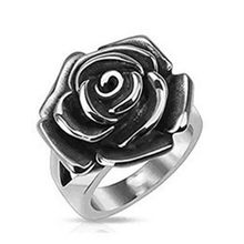 Novo vintage bohemia rosa flor anel de casamento feminino bandas punk esqueleto anel para festa de casamento jóias acessórios