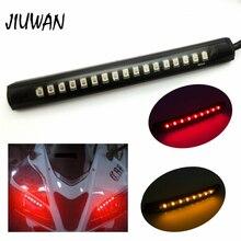 Flexible 17 LED Universal Motorcycle Running Brake Light 8 Yellow 9 Red Led Strip Tail Stop Turn Signal