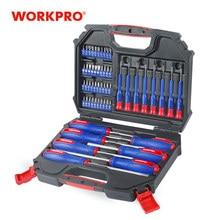 WORKPRO — Jeu de tournevis de précision avec 55 pièces, outil pour la réparation de téléphone, équipé d'une boîte de rangement permettant un transport facile