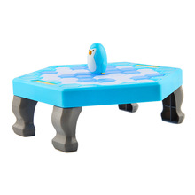 Penguin Ice Breaking Puzzle Table Games Balance Cubes Knock Block Wall Toy Desktop Paternity Interactive #E