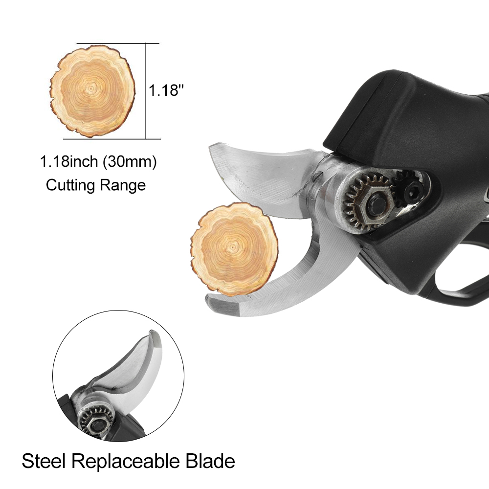 Tools : 288V 30mm Cordless Rechargeable Electric Pruning Shears Secateur Fruit Tree Branch Cutter Garden Tools 22800mah Li-ion Battery