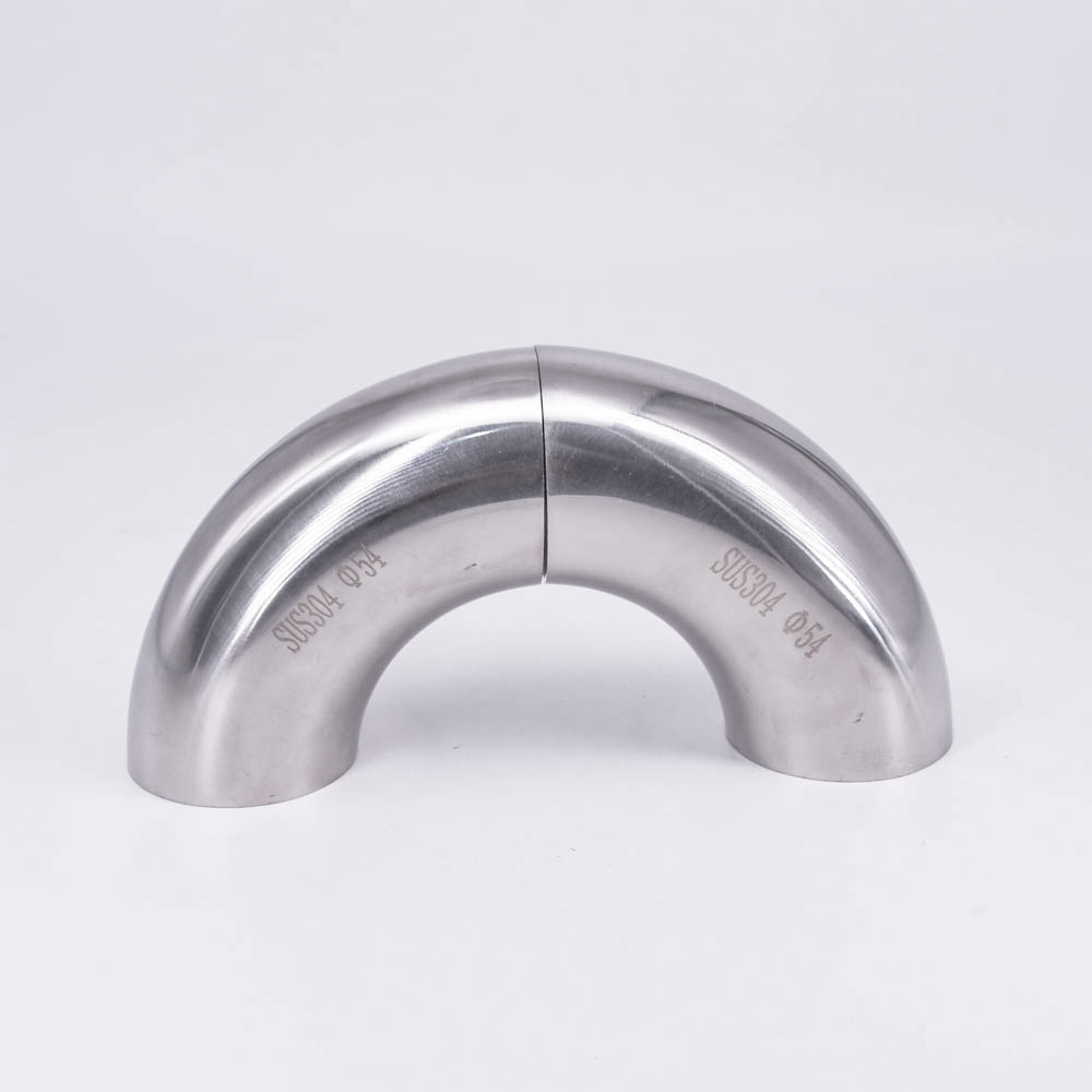 19mm 102mm Sanitary Weld Elbow Pipe Fitting 45 Degree Stainless Steel 316 Hot