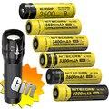 Топ продаж Nitecore NL1823/NL1826/NL1832/NL1834/NL1835 3 7 V литий-ионная защищенная батарея ButtonTop для 18650 типа фонарик налобный фонарь