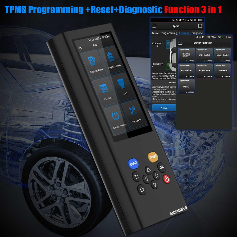 LAUNCH X431 AIDIAGSYS TPMS Программирование полная система автомобильный диагностический инструмент ABS EPB DPF Сброс масла OBD2 ODB Автомобильный сканер