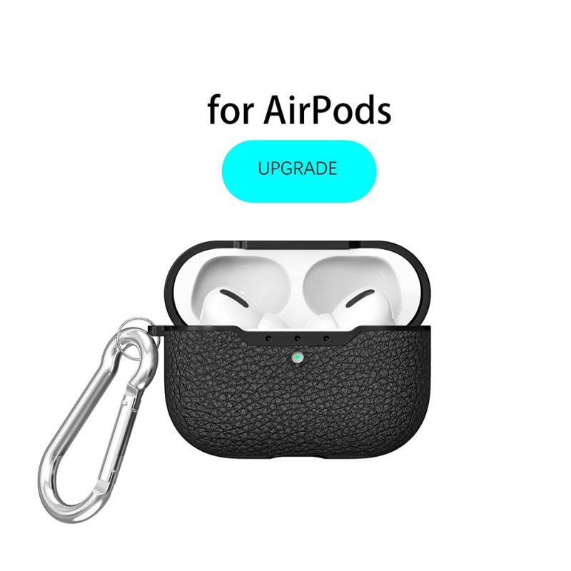 Case Cover For Apple AirPods Pro Leather Soft Wireless Earphone Charging Box Protector Case For Airpods Pro Mobile Phone Cases