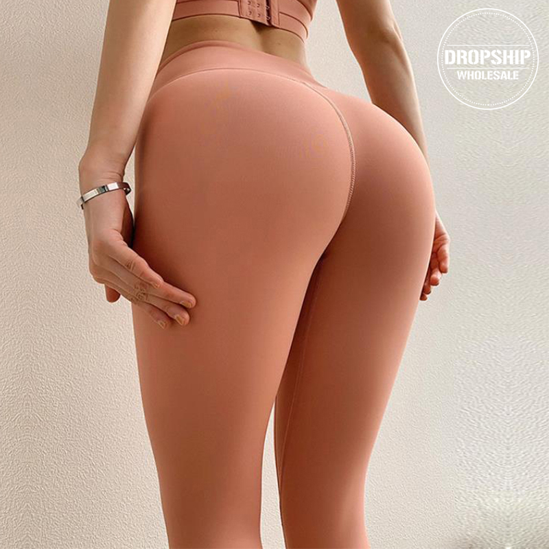 2020 Solid Sports Yoga Pants Fitness Women High Waist Leggings Professional Gym Workout Long Tights For Running Girls SEXY Butt