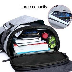 Image 5 - 패션 남성 배낭 대형 노트북 배낭 다기능 여행 학교 배낭 하이틴 학교 가방 Mochilas 남성 학생 배낭