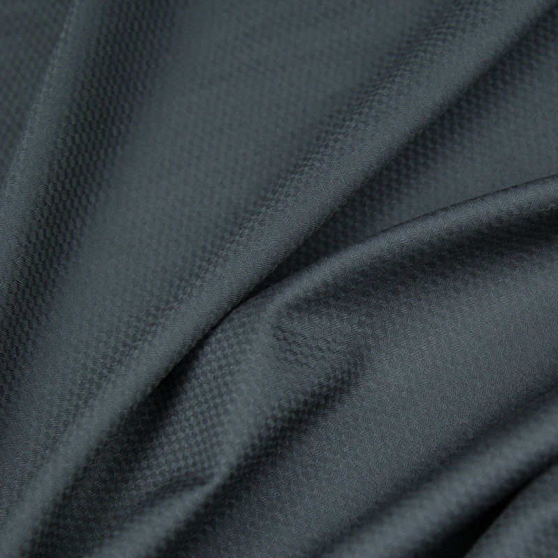 Jacquard style black wool worsted fabric 80% wool 10% cotton 10% polyester 250g/meter,WF240