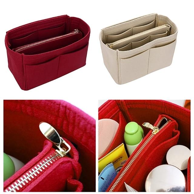 Косметичка, чехол для косметики, войлочная сумка, органайзер, вставка, косметички, чехол для макияжа, дорожная сумка для туалетных принадлеж...