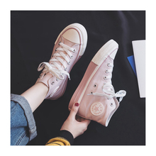 Women's Vulcanize Shoes Canvas Shoes Women Trend CPink Shoes New Fashion Comfortable Breathable Flat Color Sneakers Women