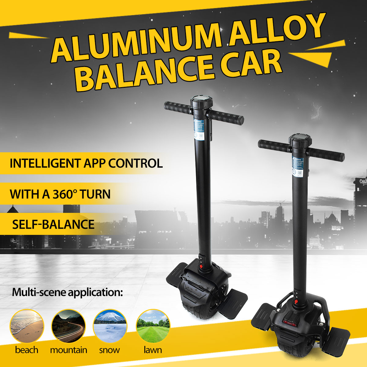Single Wheel Self Balancing Electric scooter With Intelligent APP Control 7