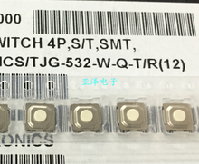 50 pces TJG-532-W-Q-T/r smd tact switch 5.2*5.2*1.5 pés do pacote 4 pinos