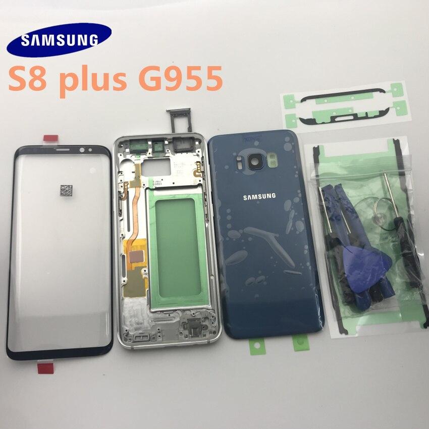 Samsung Galaxy S8 Plus G955 G955F, carcasa completa, cubierta trasera, lente de cristal de pantalla frontal + marco medio, piezas completas Bolsa de basura para coche, bolsa de almacenamiento de respaldo de asiento, caja de basura, organizador de artículos diversos, bolsas de bolsillo, accesorios para papelera
