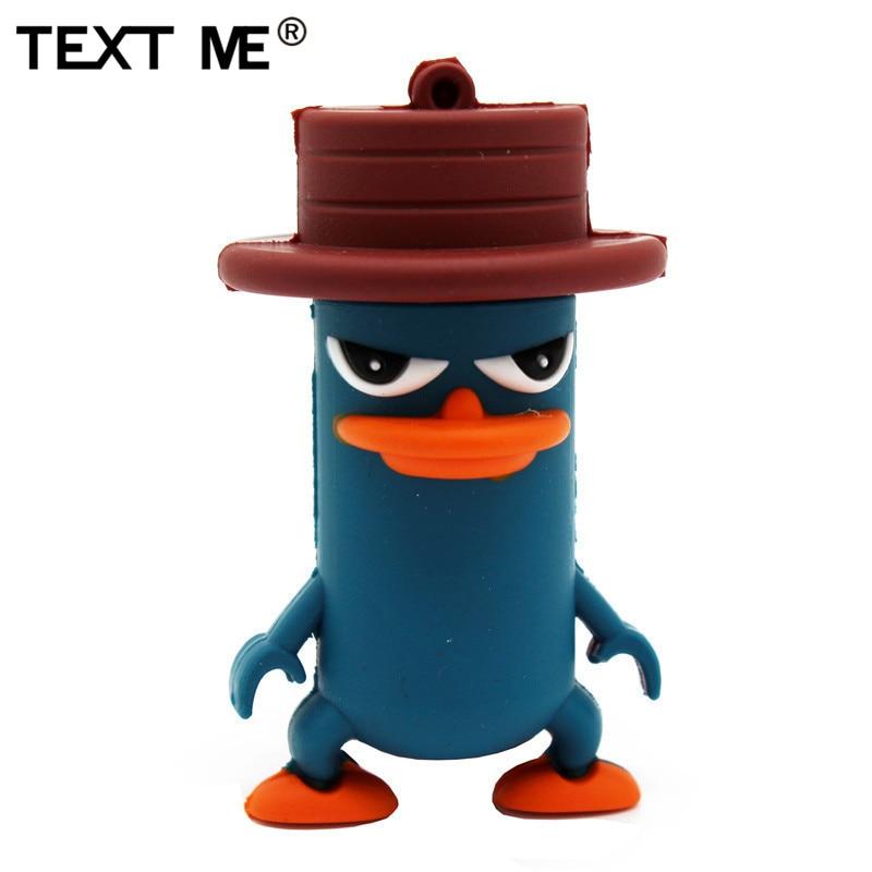 TEXT ME  Newsute  Cartoon Usb2.0 4GB 8GB 16GB 32GB 64GB  Hat Duck USB Flash Drive Creative Stick Pendrive