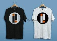 Новый импульс записи лого белая черная футболка рубашки с коротким рукавом XS-2Xl