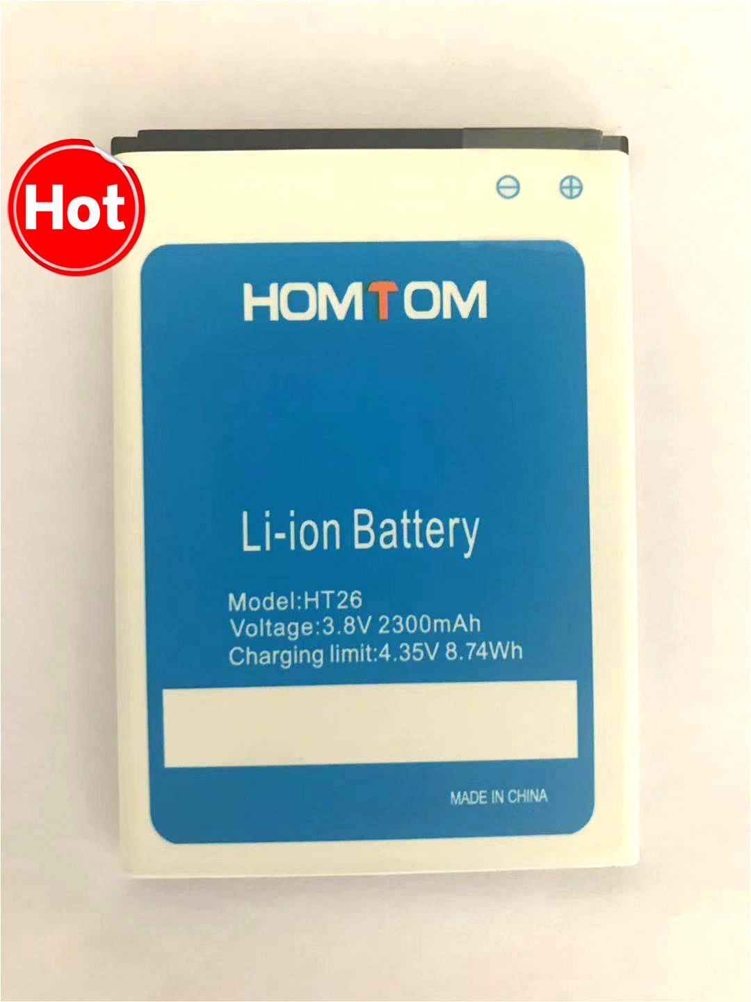 High Quality Original Homtom HT26 Battery For Replacement Of Mobile Phone Battery When Homtom HT26 Backup Battery 3.8V 2300 MA