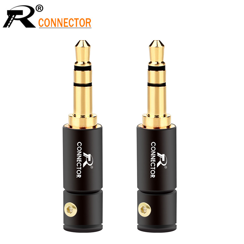 3PCS 3.5mm 3 Pole Stereo Male Jack 3.5 Audio Plug Connector DIY Solder Adapter For Shure 2mm 4mm 6mm Cable