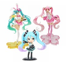 14-20CM Anime Pink Miku Action Figures Vocaloid Sakura Miku PVC Collectible Model Toys Dolls Speelgoed Girls Figure Gift(China)